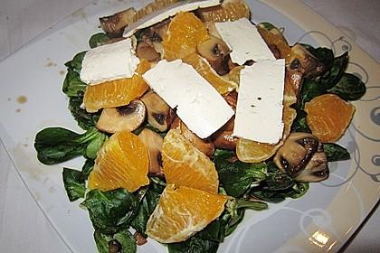 Salat mit Honigchampignons 39