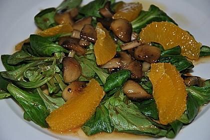 Salat mit Honigchampignons 17