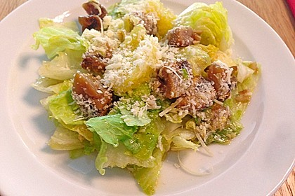 Salat mit Honigchampignons 42