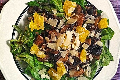 Salat mit Honigchampignons 27
