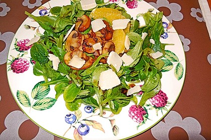Salat mit Honigchampignons 28