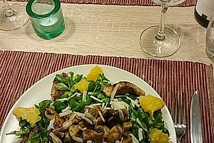 Salat mit Honigchampignons 8