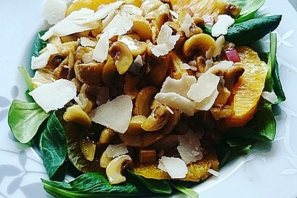 Salat mit Honigchampignons 24