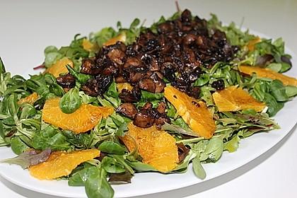 Salat mit Honigchampignons 10