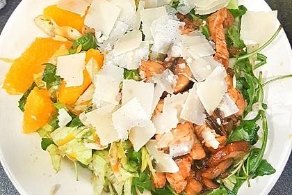 Salat mit Honigchampignons 44