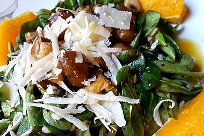Salat mit Honigchampignons 52