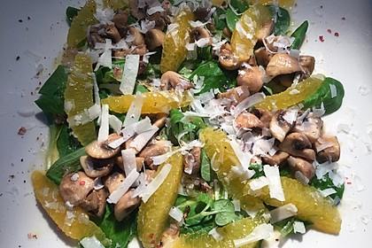 Salat mit Honigchampignons 65