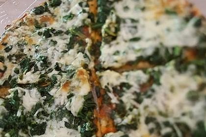 Spinatpizza 3