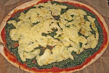 Spinatpizza 4