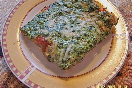 Spinatpizza 5