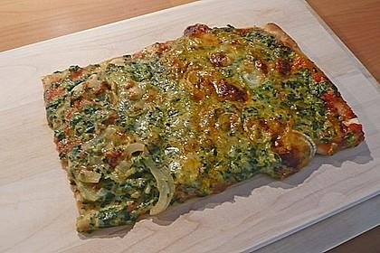 Spinatpizza 1