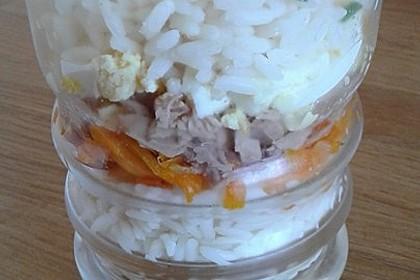 Schichtsalat mit Thunfisch nach japanischer Art 7