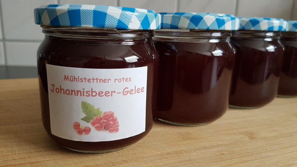 Johannisbeergelee Ein Raffiniertes Rezept Chefkoch De