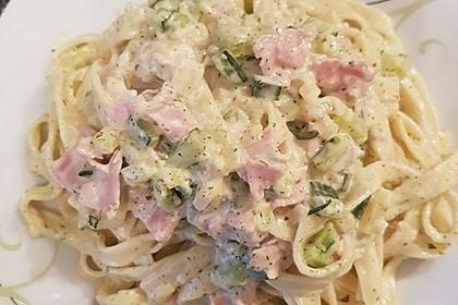 Tagliatelle mit Frischkäse - Zucchini - Sauce 5