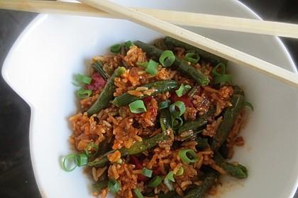 Bohnen - Reis - Pfanne