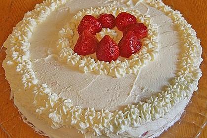 Schnelle Erdbeer - Sahne - Torte (Bild)