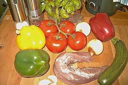 Schweinemedaillons auf Gemüsebett 1