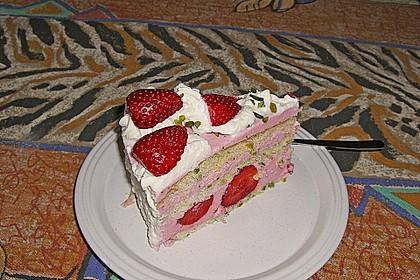Erdbeer - Pistazien - Torte 2