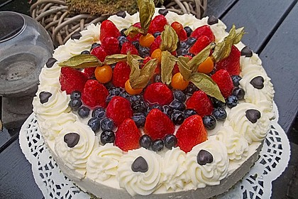 Erdbeer - Pistazien - Torte