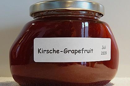 Kirschen - Grapefruit Marmelade (Konfitüre) 1