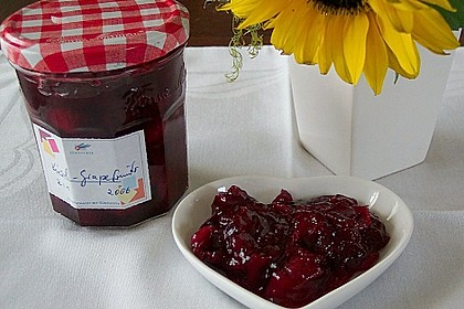 Kirschen - Grapefruit Marmelade (Konfitüre)