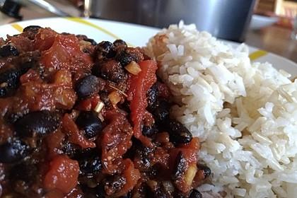 Scharfes Chili mit schwarzen Bohnen