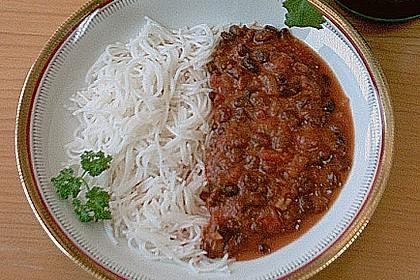 Scharfes Chili mit schwarzen Bohnen 2