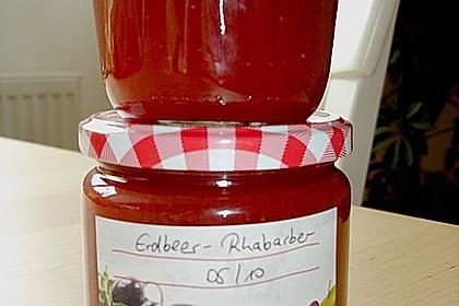 Erdbeer - Rhabarber - Marmelade mit Vanille 17