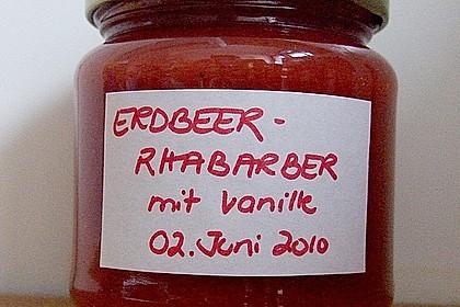Erdbeer - Rhabarber - Marmelade mit Vanille 16