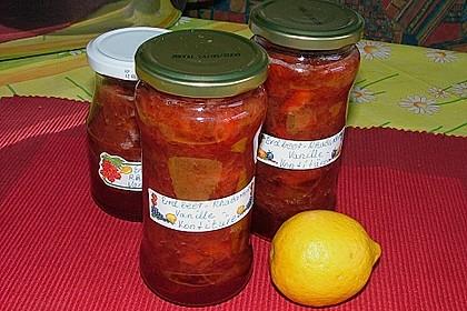Erdbeer - Rhabarber - Marmelade mit Vanille 19