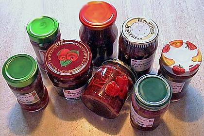 Erdbeer - Rhabarber - Marmelade mit Vanille 18
