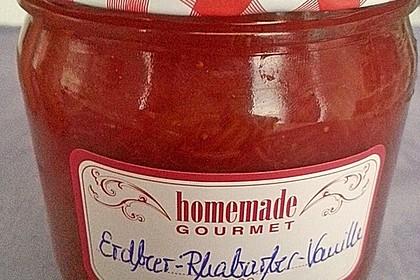 Erdbeer - Rhabarber - Marmelade mit Vanille 2