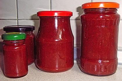 Erdbeer - Rhabarber - Marmelade mit Vanille 24