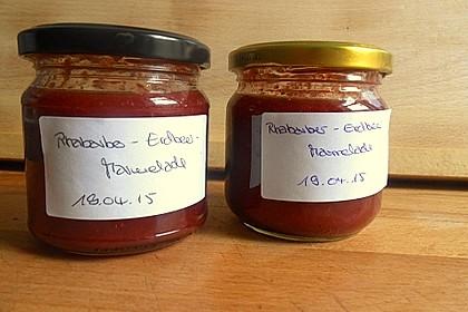 Erdbeer - Rhabarber - Marmelade mit Vanille 12
