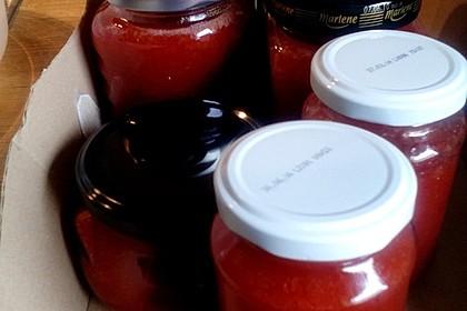 Erdbeer - Rhabarber - Marmelade mit Vanille 13