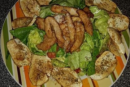 Bunter Salat mit scharfen Putenstreifen 20