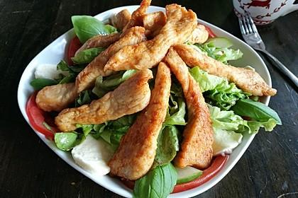 Bunter Salat mit scharfen Putenstreifen 17