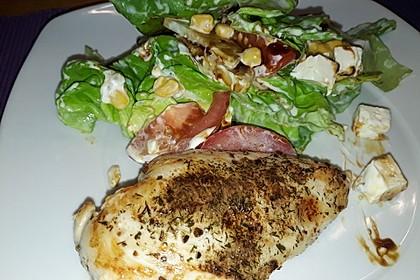 Bunter Salat mit scharfen Putenstreifen 18