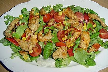 Bunter Salat mit scharfen Putenstreifen 1