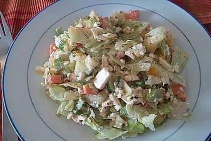 Bunter Salat mit scharfen Putenstreifen 22