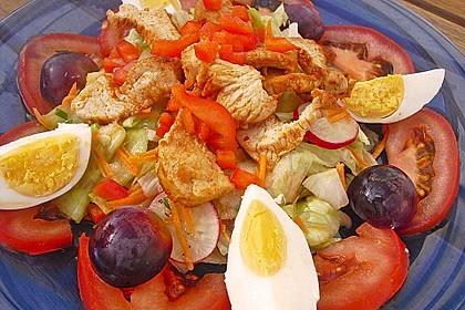 Bunter Salat mit scharfen Putenstreifen 7
