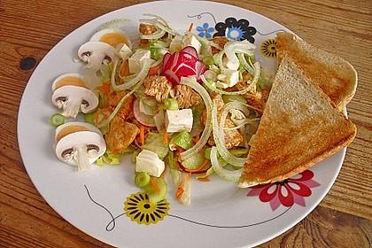 Bunter Salat mit scharfen Putenstreifen 15