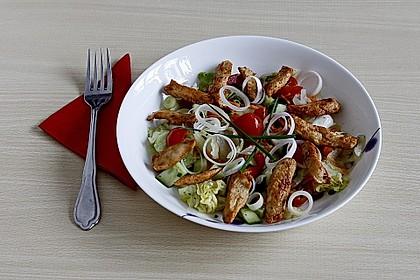 Bunter Salat mit scharfen Putenstreifen 3