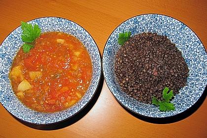 Belugalinsen mit Tomatenchutney 1