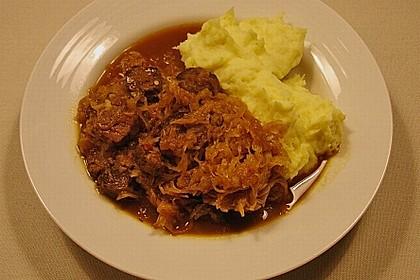 Szegediner Gulasch mit Kartoffeln 2
