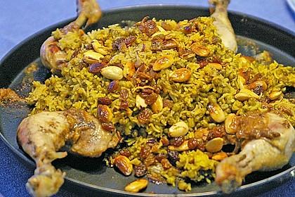 Indisches Chicken Biryani