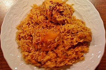 Indisches Chicken Biryani 3