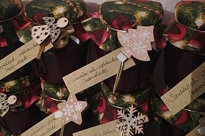 Weihnachtliche Sauerkirsch - Lebkuchen - Marmelade (Bild)