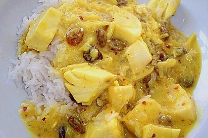 Fisch in Kokossoße