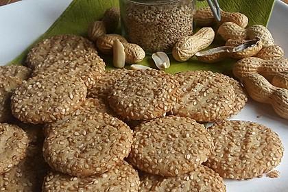Erdnuss - Sesam - Plätzchen 2